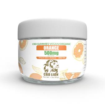 500mg CBD Gummies Orange