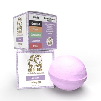 100mg lavender bath bomb  with 2 box view