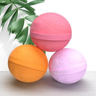 100mg CBD Bath Bombs - 3-Pack Lavender, Citrus, Rose