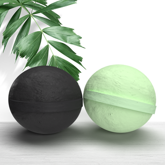 100mg CBD Bath Bomb - 2-Pack Charcoal, Eucalyptus