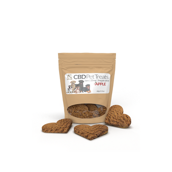 CBD Pet Treats 25mg -  Apple - 5 treats - 5mg/treat