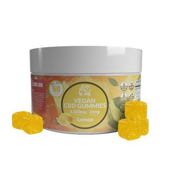 1500mg CBD Gummies - Lemon 60 Pcs