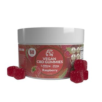 1500mg CBD Gummies - Raspberry 60 Pcs
