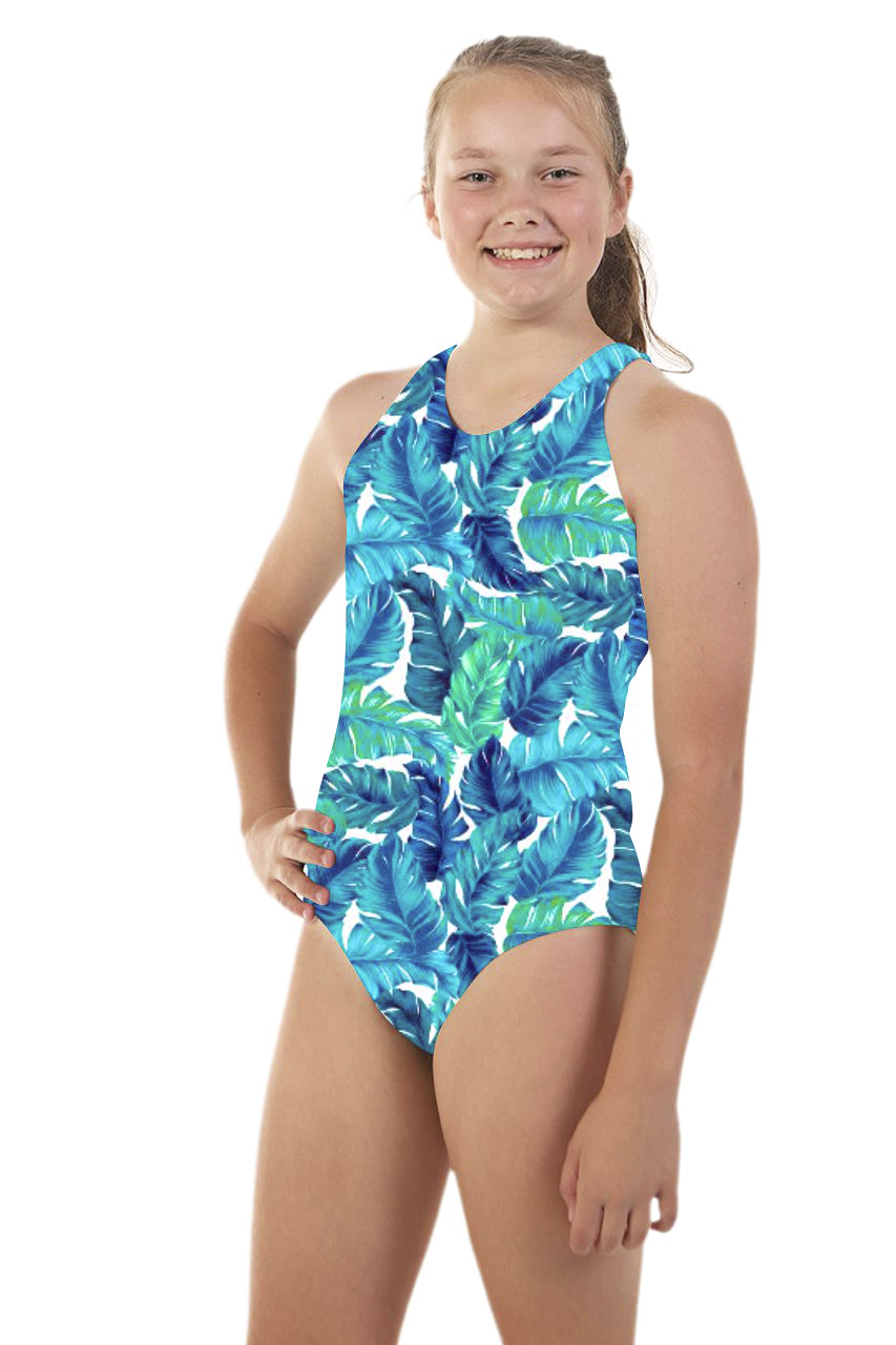 Nova Swimwear Ladies One Piece Racer Sportique Burlesque Chlorine Tough Swimsuit