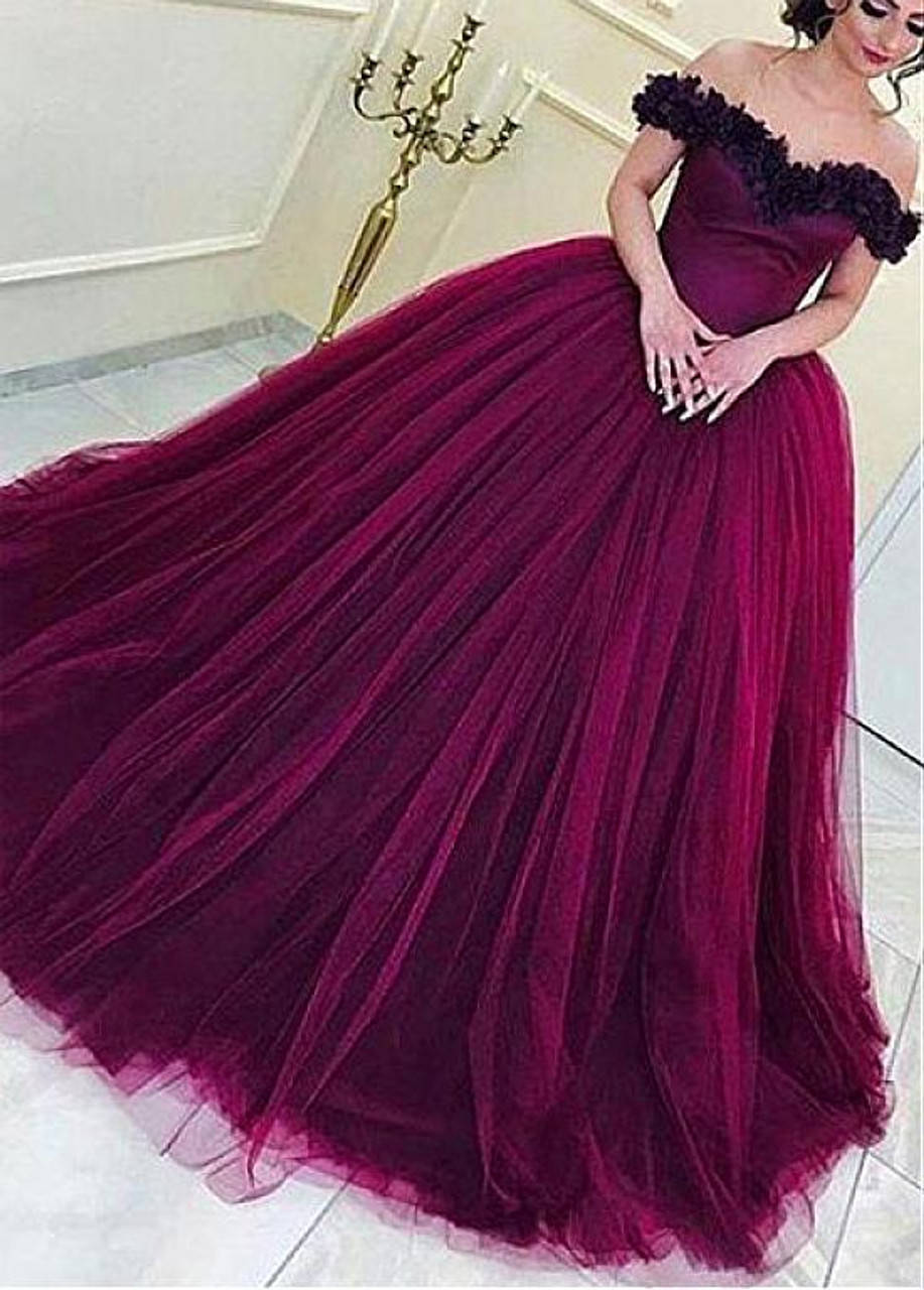 Purple and Red Cocktail Dress