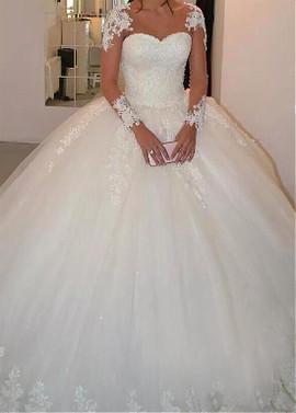 Plus Size Wedding Dresses with Sleeve