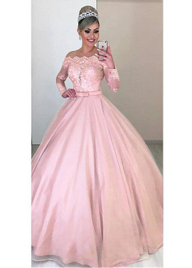 615714bdfb7 Pink Tulle Off-the-shoulder 2 In 1 Wedding Dresses With Detachable Skirt ...