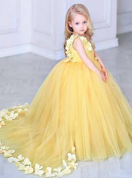 a2e78b7f84d Wedding Party Dresses - Flower Girl Dresses - Yellow Flower Girl ...
