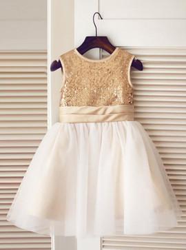 24d095d0bd Wedding Party Dresses - Flower Girl Dresses - Gold Flower Girl ...