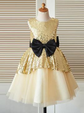3b3caf9bc23 Wedding Party Dresses - Flower Girl Dresses - Gold Flower Girl ...