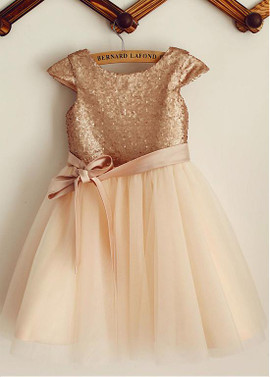 3b3caf9bc23 Wedding Party Dresses - Flower Girl Dresses - Gold Flower Girl ...