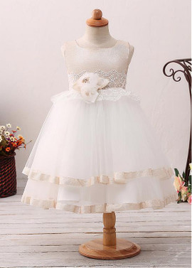 dbe0c35ec3 Wedding Party Dresses - Flower Girl Dresses - Champagne Flower Girl ...