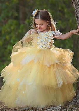 f9b6ffa368ff4 Wedding Party Dresses - Flower Girl Dresses - Yellow Flower Girl ...