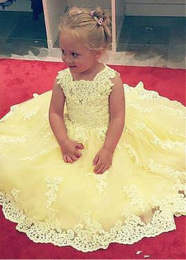 cd10e034e Wedding Party Dresses - Flower Girl Dresses - Yellow Flower Girl ...