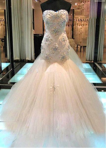 Beaded Sweatheart Neckline Wedding Dress