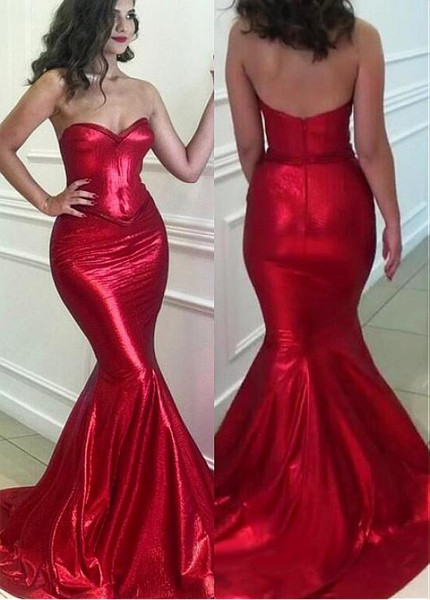 e03225959 Red Sweetheart Neckline Mermaid Prom Evening Dresses