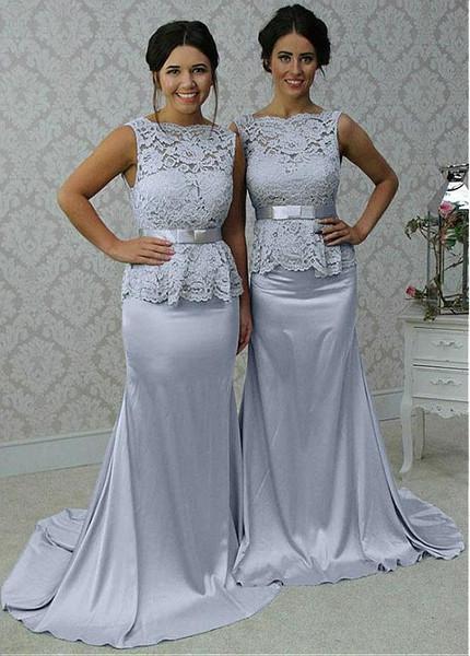 Satin Mermaid Bridesmaid Dresses
