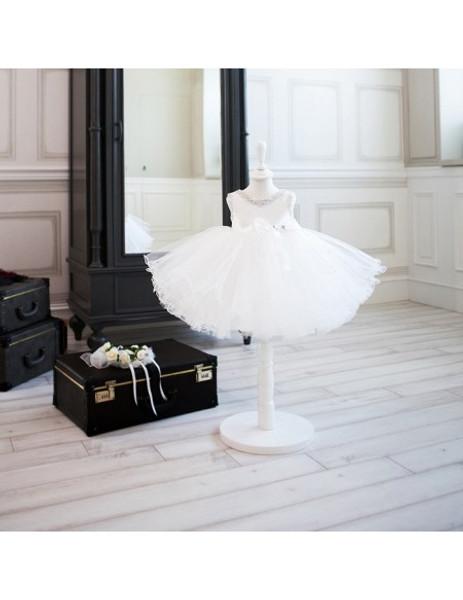 Chic Black And White Tutu Tulle Ballet Flower Girl Dress