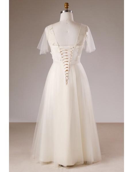Champagne V-neck Plus Size Light Long Mother Of The Brides Dress