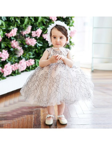 53ad53173b0 Modern Couture Lace Princess Puffy Flower Girl Dress