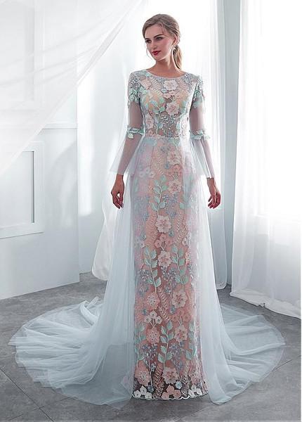 See through Bride Dress