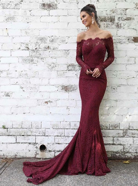 a13ab6ef462 Burgundy Mermaid Prom Dresses-Best Choice For Hourglass Body Shape ...