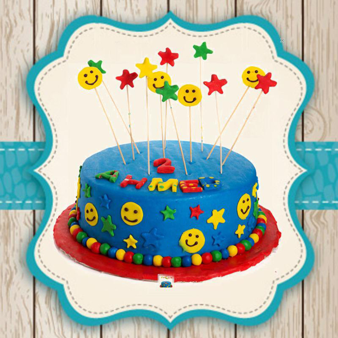 Prime Online Gift Shop Customized Cakes Smiley Faces Customized Cake Funny Birthday Cards Online Fluifree Goldxyz