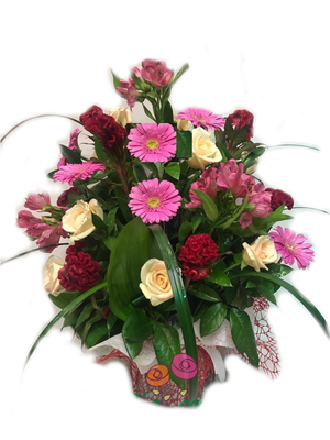 Send this flowers bouquet to someone in Cairo.
