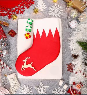 Santa Stocking cake
