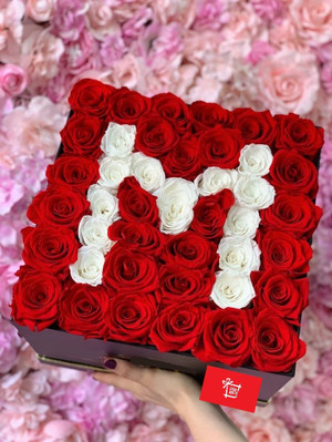 Red Roses with a White Letter