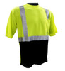Global Glove - GLO-007B - Frogwear HV - High Visibility Self-Wicking Short Sleeved Shirt-CHEST POCKET