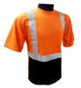 Hi-Vis Class 2 Reflective Safety Shirt - Safety Lime Orange / Black Bottom ## BBO820 ##