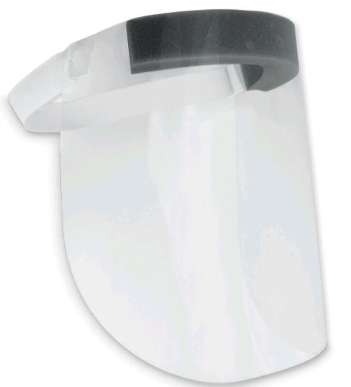 Clear Disposable Copolyester Face Shield with Foam Padding and Elastic Strap