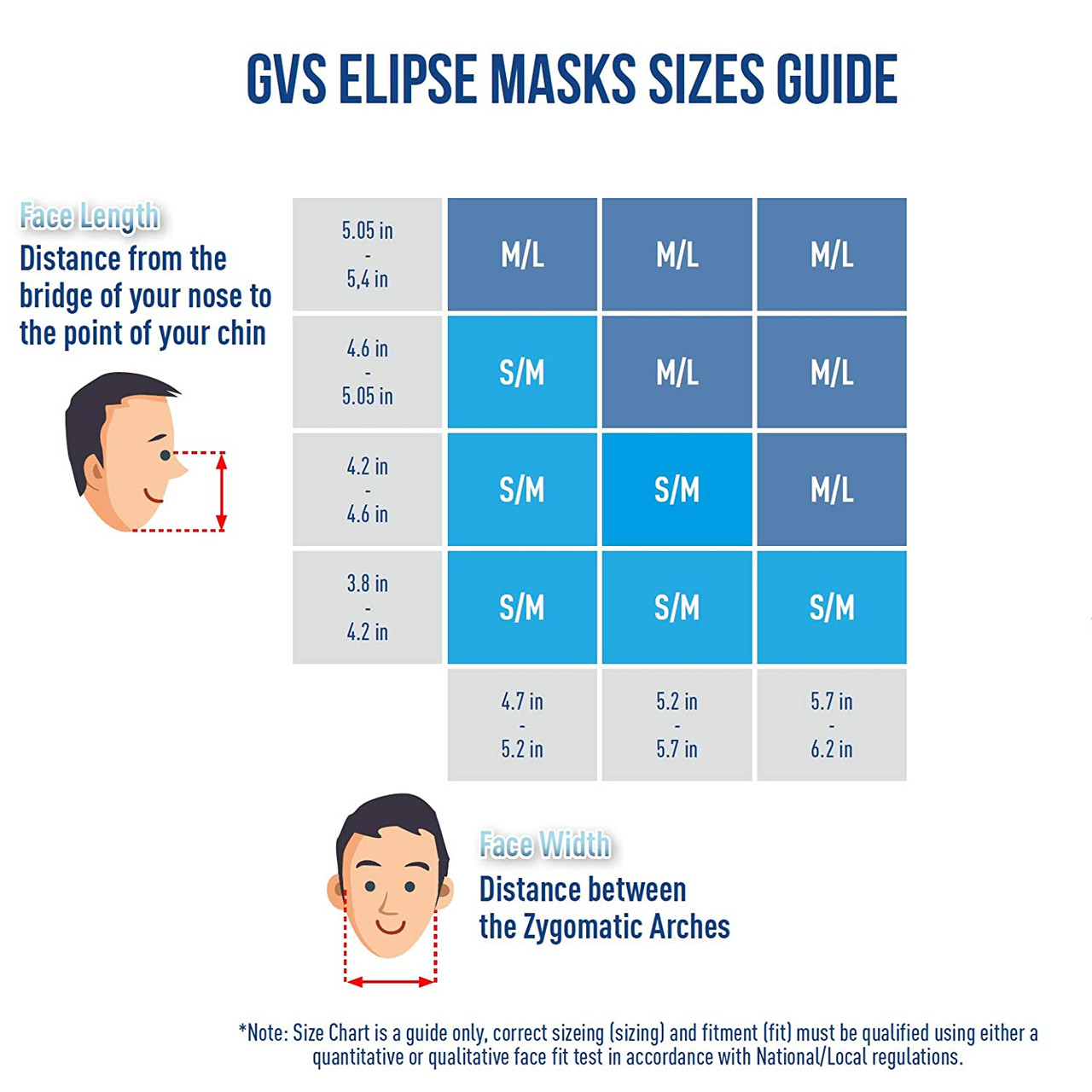 GVS SPR459, SIZE:M/L, Elipse P100 Nuisance Dust Half Mask, Respirator with replaceable and reusable filters included