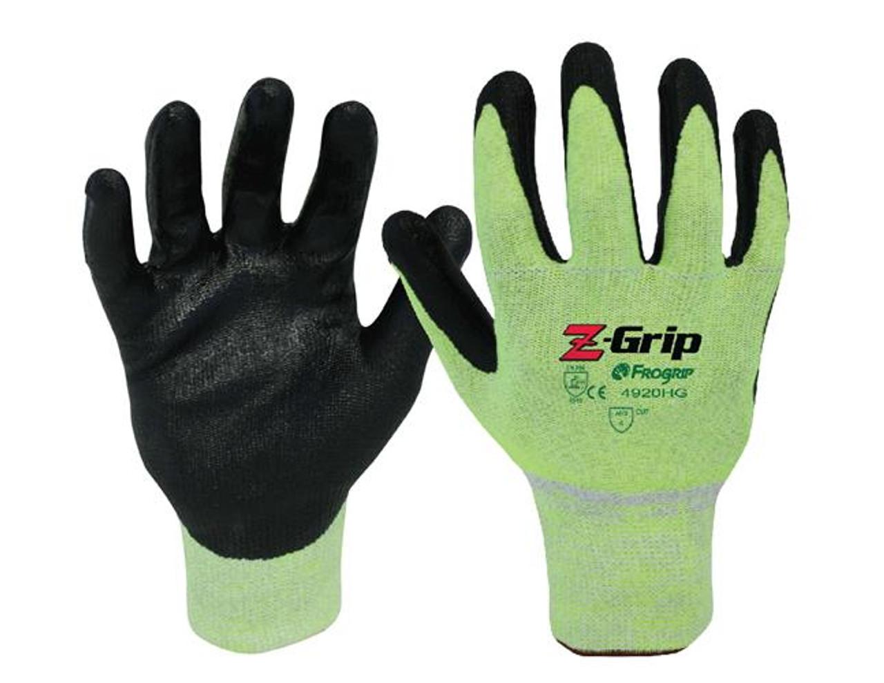 ANSI A4 - Z-GRIP Cut Resistant Nitrile Coated Gloves  ## 4920HG ##
