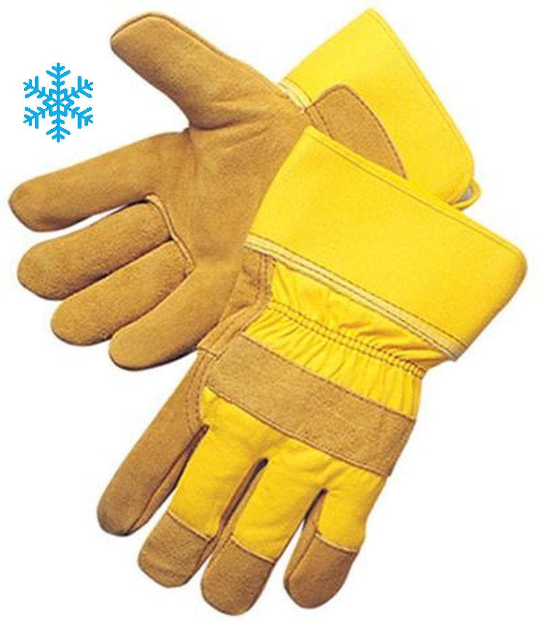 Insulated Split Cowhide Palm Work Gloves - Insulated Gloves   ## 3655 ##