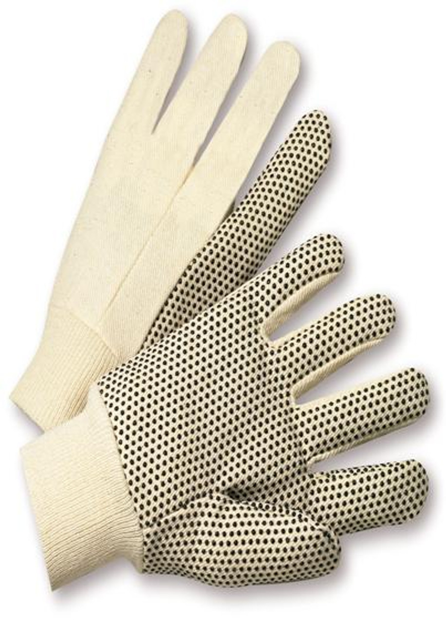 PVC Dot  8oz Cotton Canvas Work Gloves  ## 330 ##