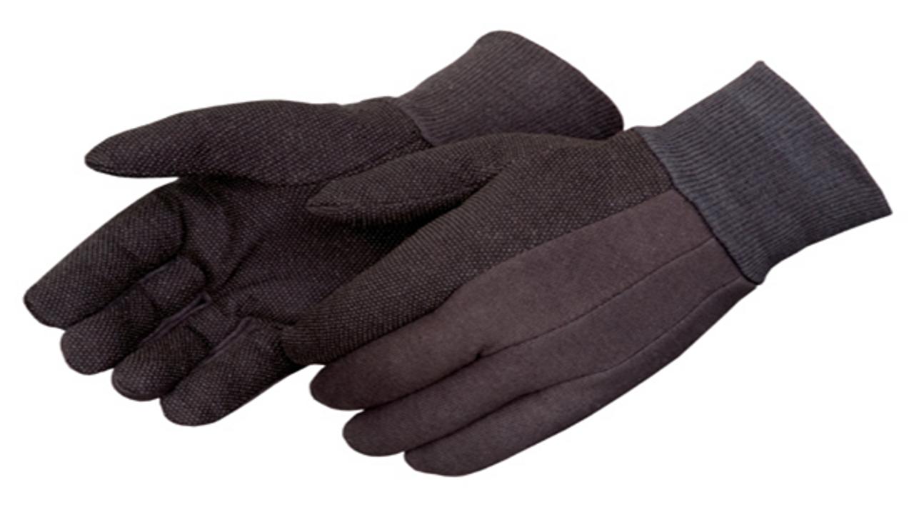 Brown Micro-dot Jersey Gloves  ## 4504Q ##