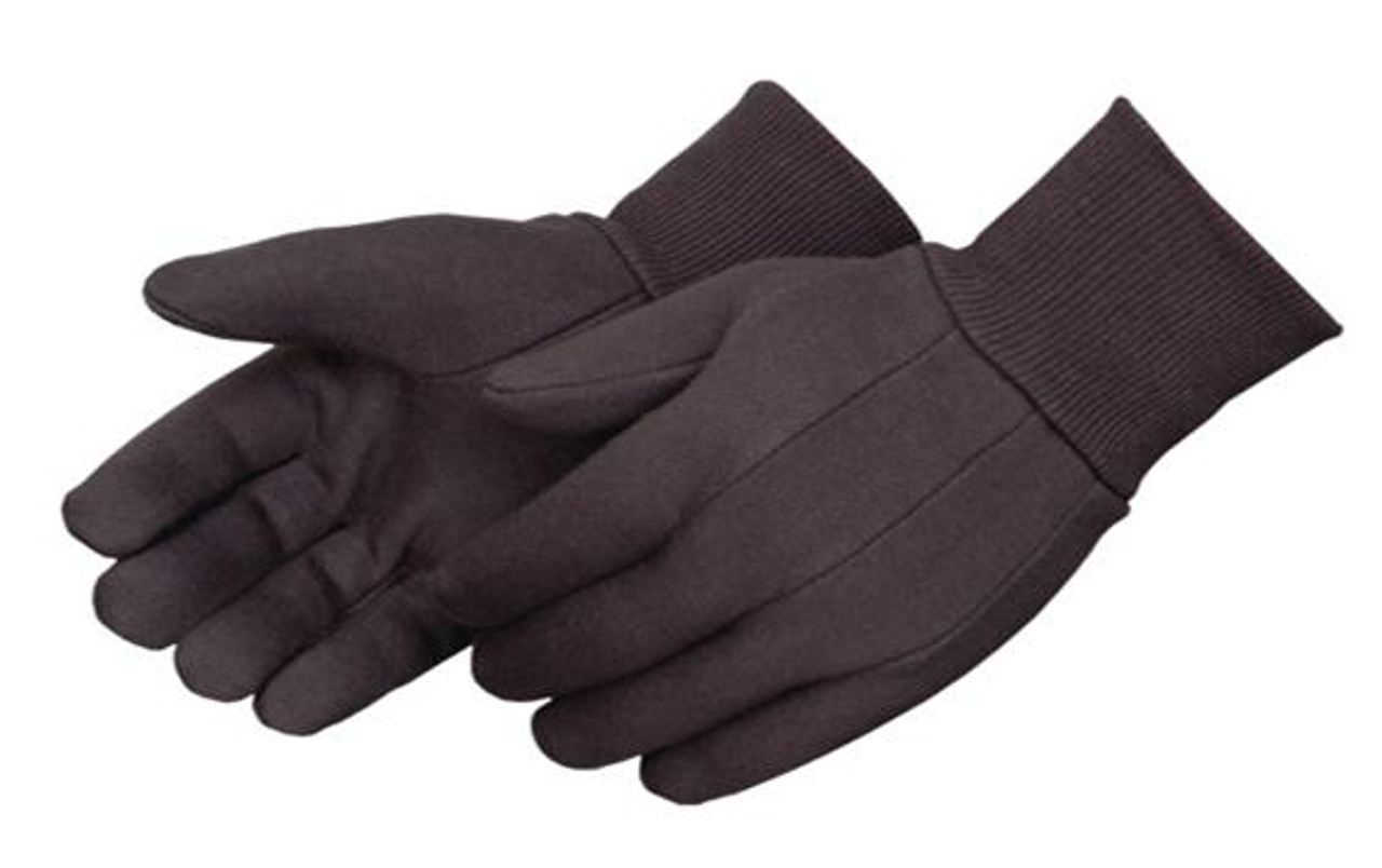 10oz Weight Brown 100% Cotton Jersey Gloves  ## 344 ##