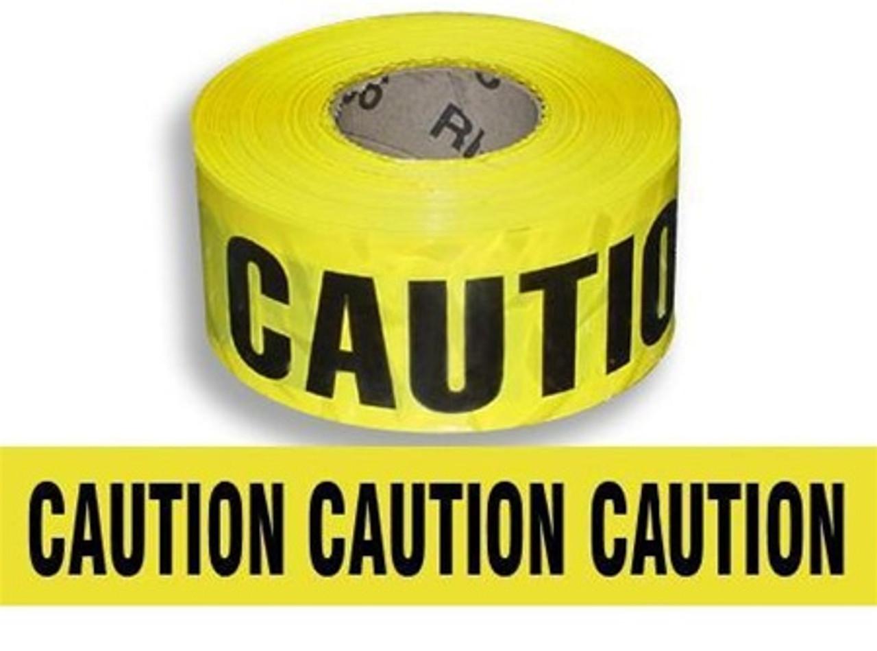 Yellow CAUTION Barricade Tape