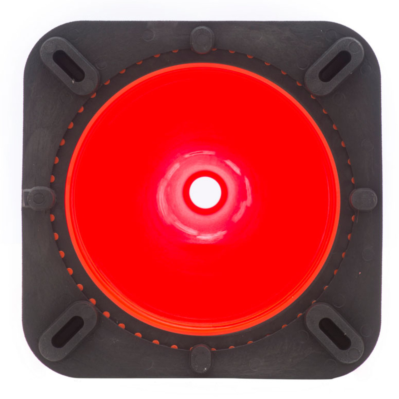 "28"" Orange Traffic Cone Black Base, 7 lbs w/ 6"" & 4"" 3M Reflective Collar"