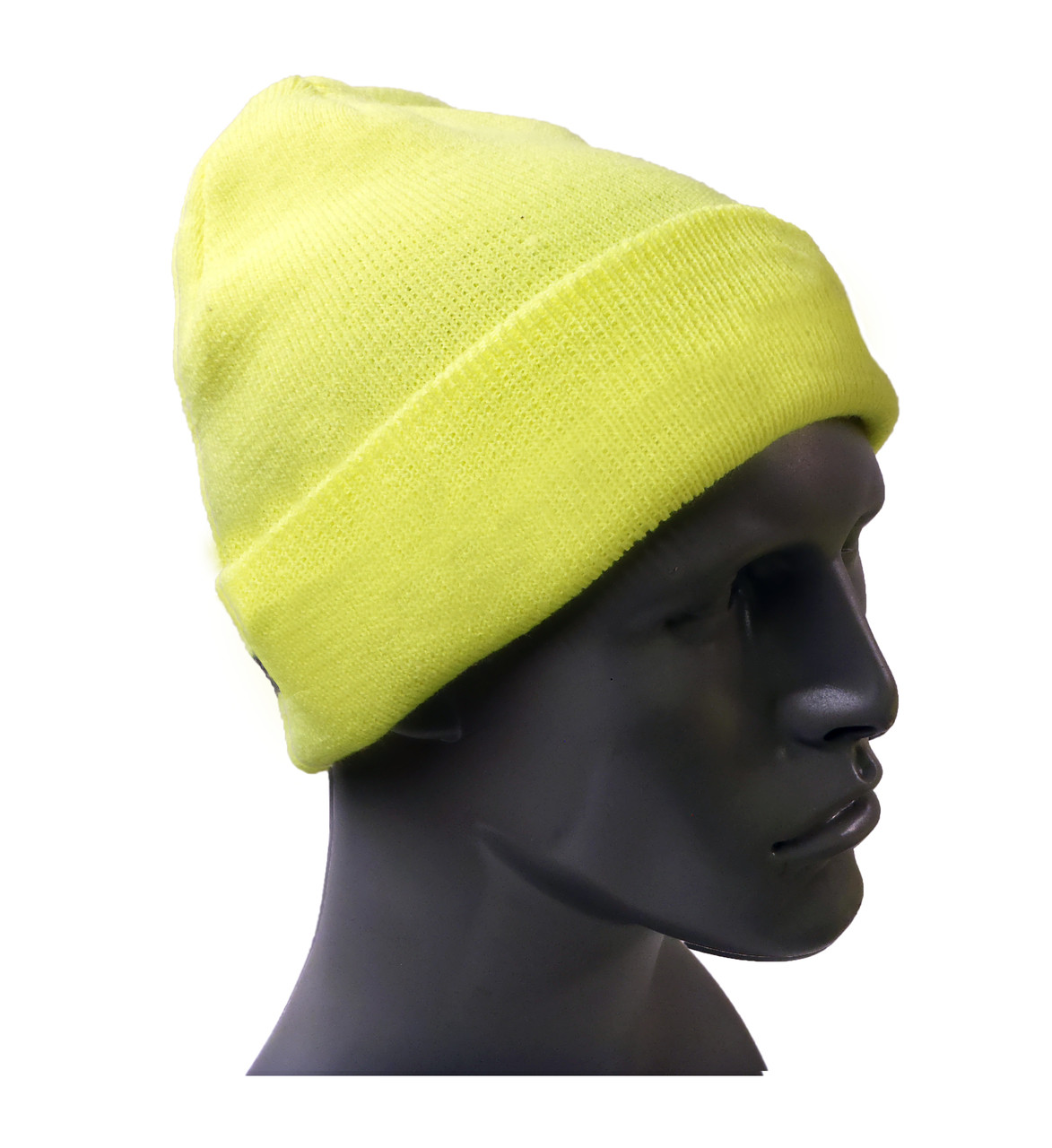 Hi-Vis Knit Hats - Lime Green  ## KC401 ##