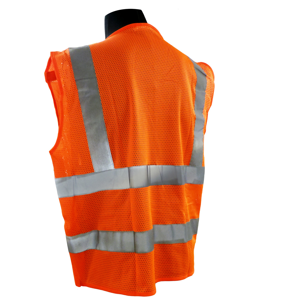Breakaway Mesh Class 2 Safety Vests - Safety Orange Back