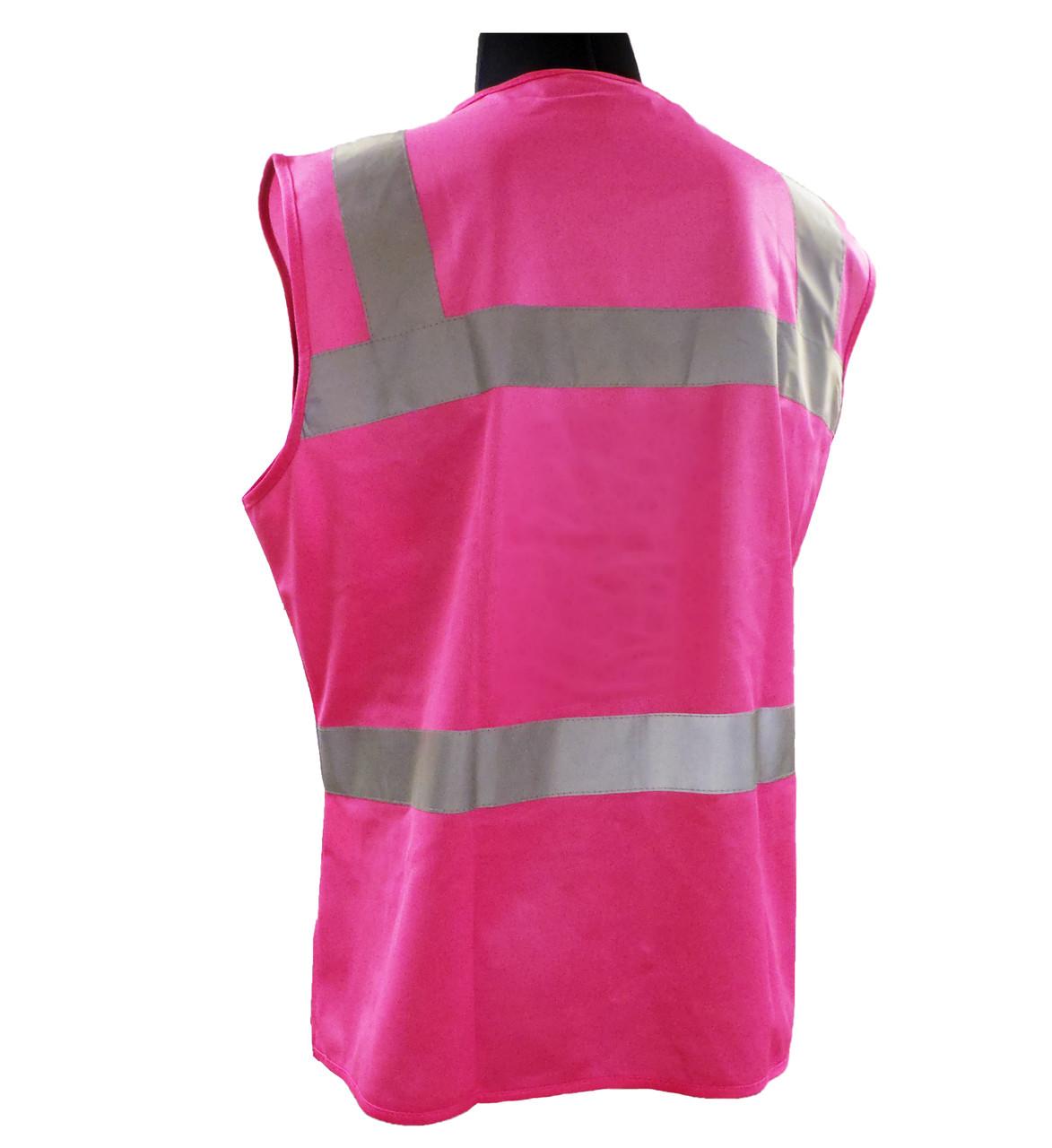 ERB Non-ANSI Hi-Vis Pink Safety Vest Back