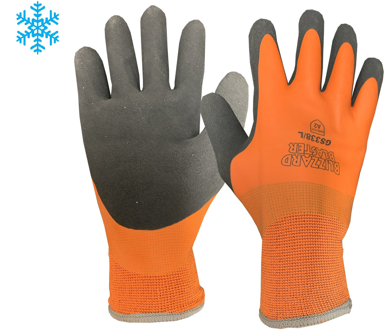 Blizzard Blaster- Insulated Double-Dipped  Latex Coated Water Resistance Palm  ## GS338 ##