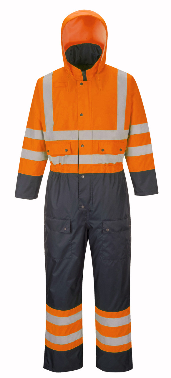 Hi-Vis Lined Coverall - Orange ## S458O ##