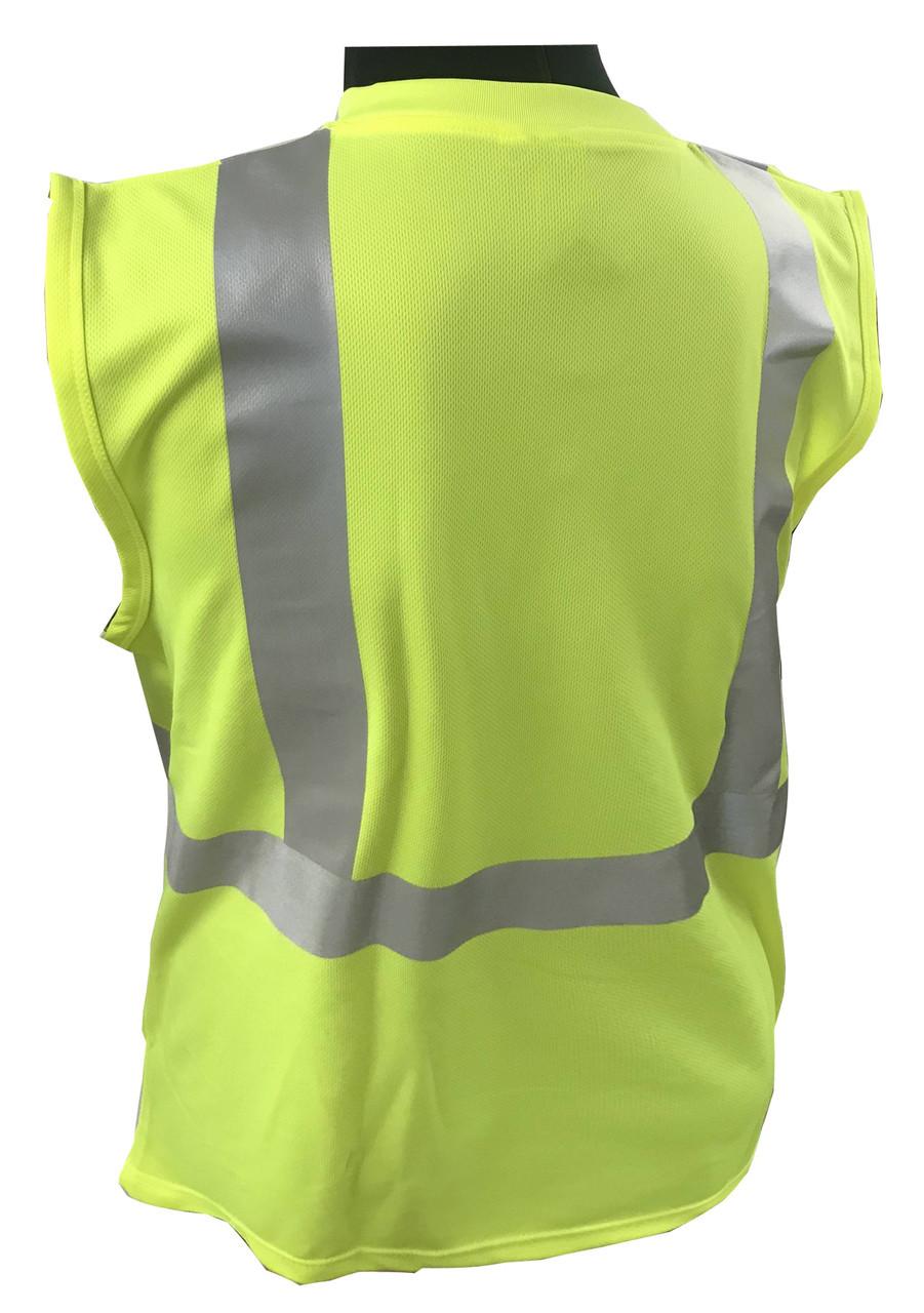 Sleeveless - Forester SSJ9051 Hi-Vis Knit, Class 2 Safety Cut off T-shirt - BACK