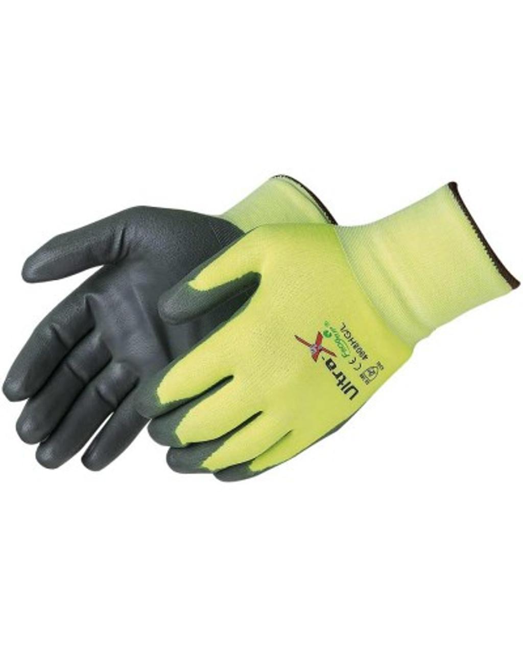 ANSI A2 - Ultra X-Grip Cut Resistant Gray Polyurethane Palm Coated ## 4908HG ##