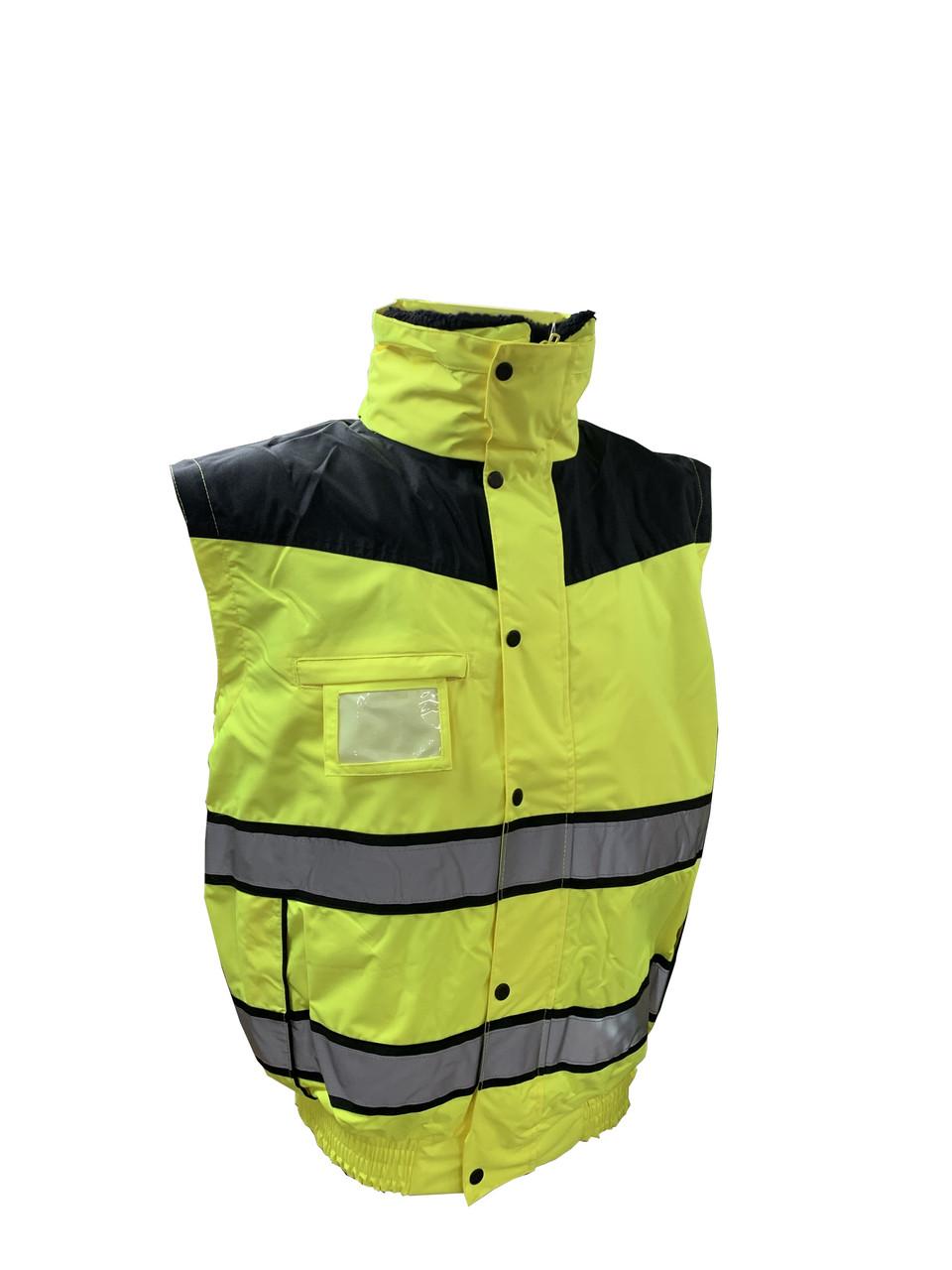 Hi-Vis Classic Bomber Jacket - Hi-Vis Yellow ## UC466YBR ##