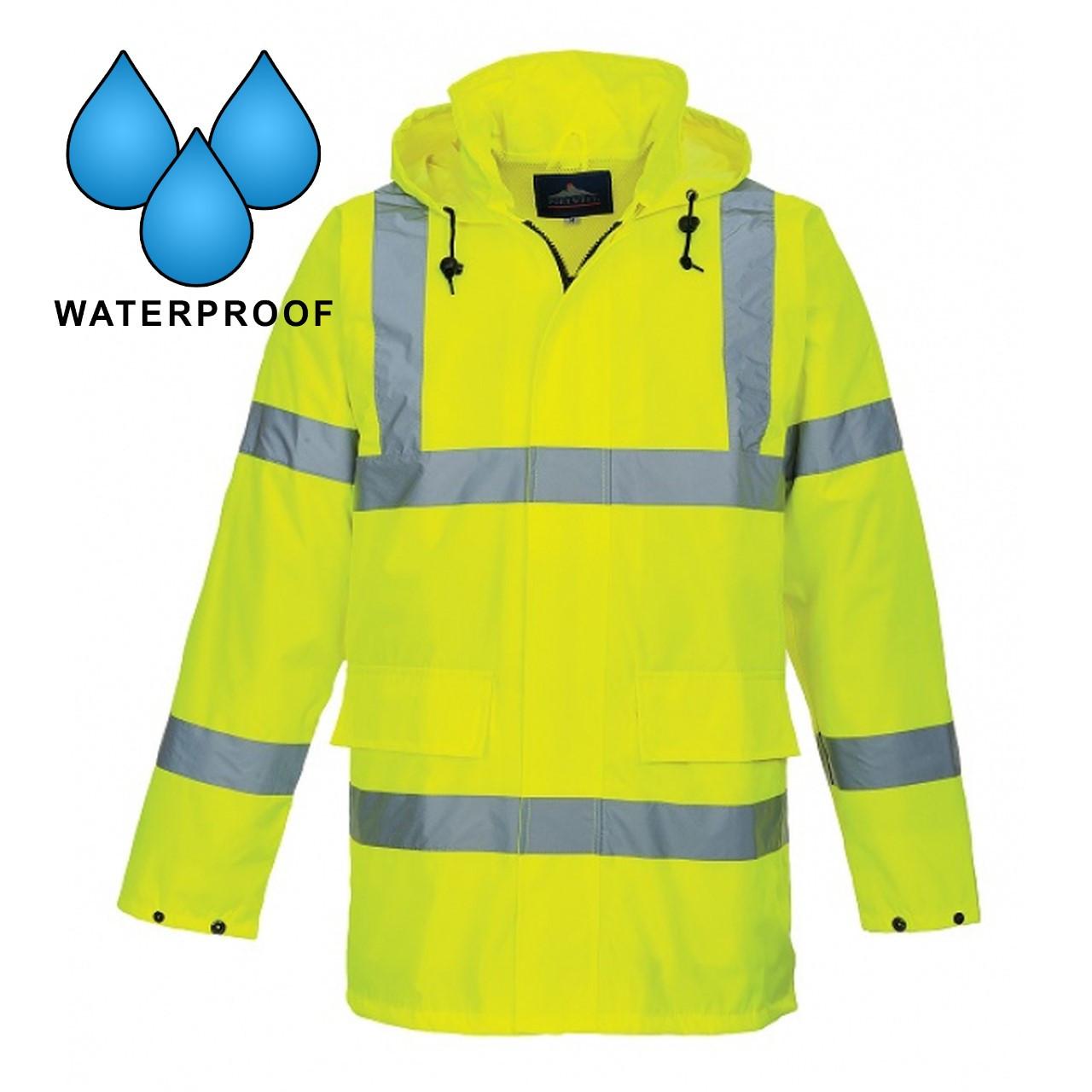 PortWest US160 Class 3 Hi Vis Yellow Waterproof Traffic Jacket
